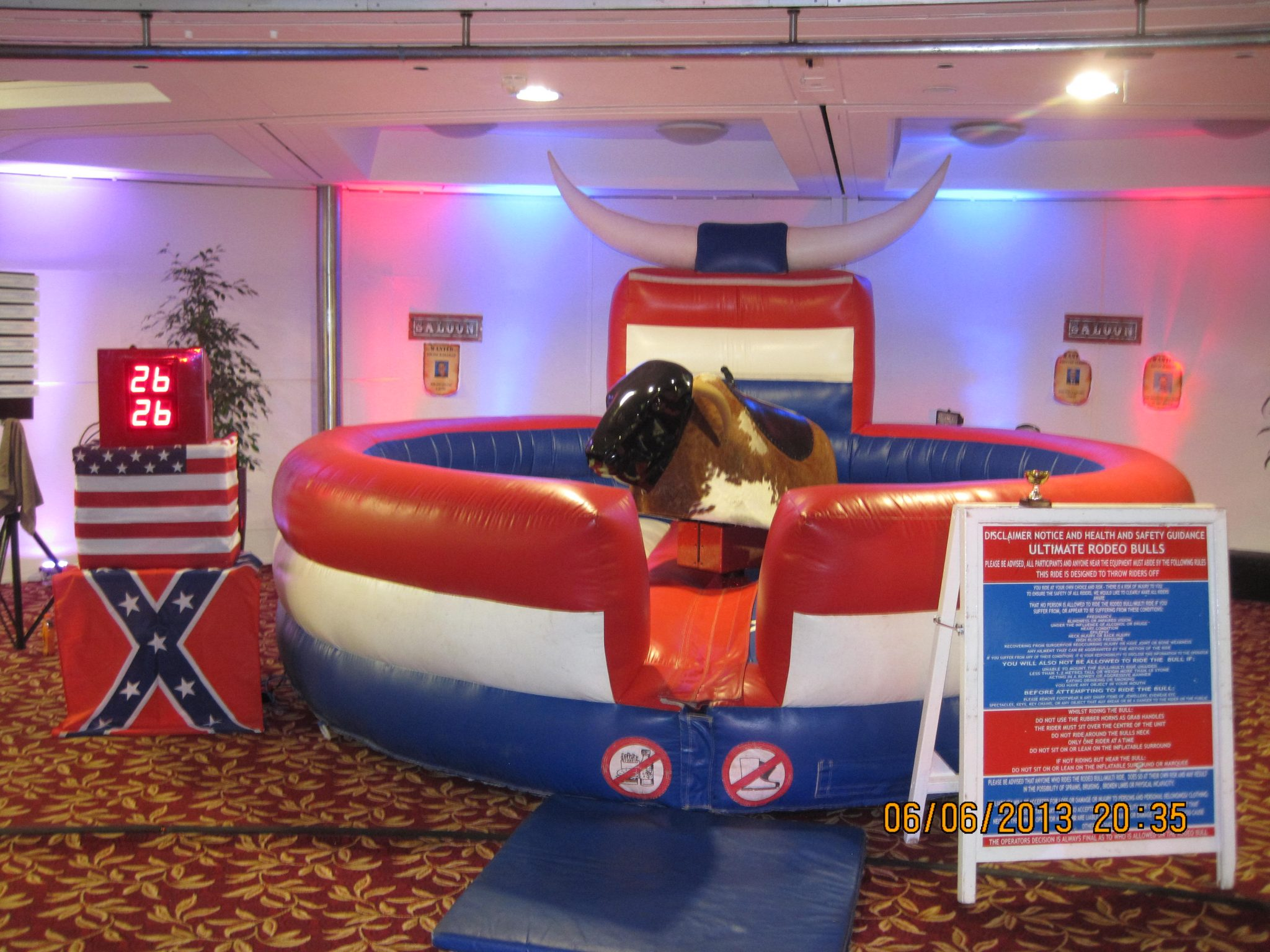 RODEO BULL HIRE - WILD WEST PARTY HIRE - THEMED EVENT HIRE